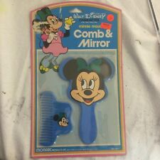 Vintage Disney Minnie Mouse Comb & Mirror NEW on Card-Hong Kong-Monarc