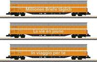 Marklin 82417 Type Habbiillnss Sliding-Wall Boxcar 3-Pack  Swiss Post Era V