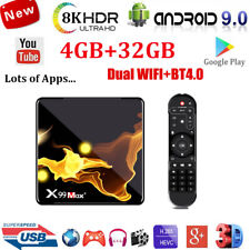 X99MAX+ Android 9.0 OS Quad Core Smart TV BOX WIFI 4K 3D Movie HDMI Media Player