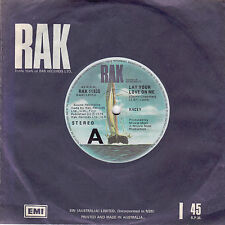 RACEY Lay Your Love On Me / I Believed You 45