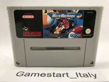 MICRO MACHINES - SUPER NINTENDO SNES - SOLO CARTUCCIA CARTRIDGE ONLY PAL VERSION