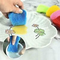 Küche Silikon Scrubber Schwamm Bürste Dish Pot Pan Tools Reinigung Waschen