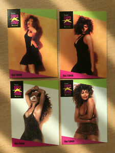 4 Tina Turner trading cards (usa version)