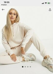Asos Cream Biege Tracksuit New Bnwot Joggers Hoodie Size 8 Sold Out