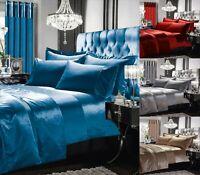 Gran Reno Velvet Panel Duvet Cover Set With Single Double Super King Size Silk