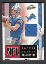 Matthew Stafford 2009 Playoff Absolute Memorabilia Rookie Jersey Collection Card