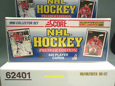1990-91 SCORE NHL Hockey Factory-Sealed Hockey Set (American Version)