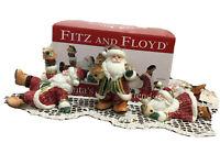 MACY'S Fitz & Floyd Santa's Forest Friends 3 Tumblers NIB 2011, Excellent