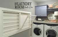 THE LAUNDRY ROOM LOADS OF FUN  Vinyl Wall Art Decal Lettering Words Quote Saying