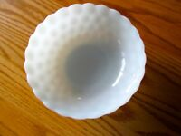 Large Round Milkglass Bubble Bowl ~ Anchor Hocking