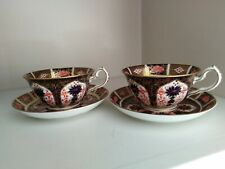 2 x ROYAL CROWN DERBY TEA CUP & SAUCER / IMARI PATTERN DATED 1924