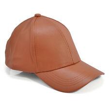 Men Women Faux Leather Baseball Cap Unisex Snapback Outdoor Sport Adjustable Hat