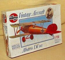 ALBATROS DV 1917 VINTAGE AIRCRAFT AIRPLANE MODEL NOS AIRFIX HUMBROL 1987 01078.