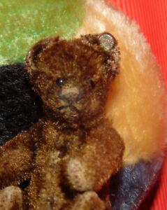 ancien**ours teddy bear Steiff 9 cm bouton steiff RARE CHOCOLAT   n4