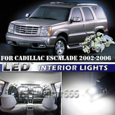 18x Bright White LED Interior Lights Package Kit For Cadillac Escalade 2002-2006