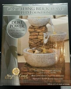 Soothing Relaxing Cascading Bowl Brick LED Water Fountain