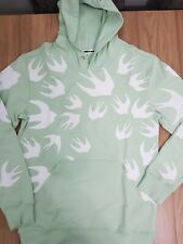 MCQ % 100 Authentic Men SWALLOW  COTTON hoddie   green -WHITE