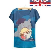 My Neighbour Totoro Blue Print T-Shirt - Size UK 8 - Kawaii Harajuku