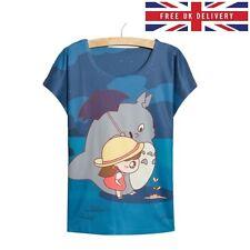 My Neighbour Totoro Blue Print T-Shirt - Size UK 8 - Kawaii Harajuku