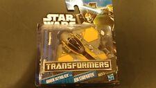 Star wars transformers Anakin Skywalker To Jedi Starfighter Hasbro 30891/30856