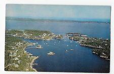 Christmas Cove Maine Me Aerial View Vintage Postcard
