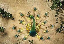 Wand Pfau Solar Deko LED Lichter Dekoration Terrasse Garten Wanddekkoration