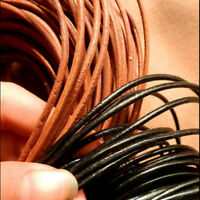 1M Leather Round Thread Rope String Cord Jewelry Making Findings Hand Craft DIY