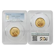 Italy 1931R Vittorio Emanuele III 50 Lire Gold PCGS MS64+