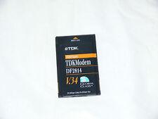 TDK TDKFLASH! TDK MODEM DF2814 V34 JAB01661 DF2814C-07A LAPTOP PCMCIA CARD