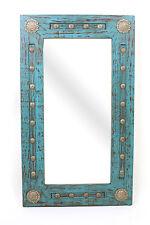 Silver Trails Mirror-Wood-Mexican-20x34-Rustic-Western-Cowboy-Silver Conchos