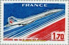 EBS France 1976 Airmail Concorde's 1st flight Paris-Rio de Janeiro YT PA49 MNH**