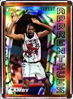 1996-97 TOPPS FINEST REFRACTOR BRONZE APPRENTICES #82 MARCUS CAMBY RC ROOKIE