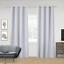 2x Gardinen blickdicht Thermo Vorhang mit Ösen 135x225cm Anthrazit VH5878an-2