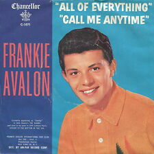 FRANKIE AVALON (5 Picture Sleeves) 45 RPM PICTURE SLEEVE ONLY (POP)
