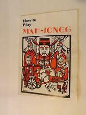 Vintage Mah Jong game instruction booklet