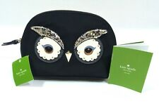 NWT Kate Spade Owl Black Sequin Cosmetic Makeup Bag Pouch Marcy Star Bright