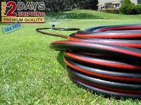 Water Hose Lawn Garden 5/8 in. Dia x 50 ft. Commercial Duty Flexible Outdoor NEW