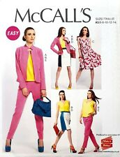 McCall's 6711 easy to sew lined jacket skirt top dress pants size 6-14 pattern