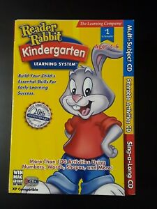 READER RABBIT KINDERGARTEN, 3 CD-ROM Edition Learning System age 4-6 Mac windows