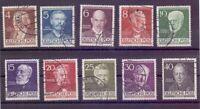 Berlin 1952 - Berühmte Männer MiNr.91/100 rund gestempelt - Michel 50,00 € (910)