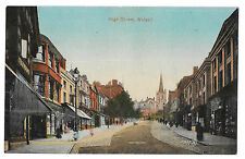 High St, Walsall PPC Unposted View from Ye Olde Woolpack, 1919 Inscription