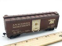 HO Scale Model Train ANACONDA NORTHERN AN 1928 cAN do AN Brown Box Car