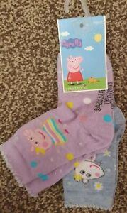 BNWT Next Baby Girls Socks 3-5.5 2 Pairs ankle peppa pig