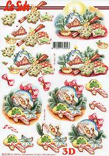 3D Motivbogen Etappenbogen Bilderbogen Grußkarte Weihnachtskugel  (155) LeSuh