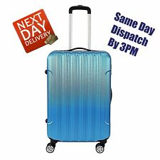 "24"" Royal Blue Hard Shell Suitcase Cabin 4 Wheel Luggage Spinner Lightweight"