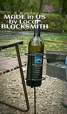 Outdoor Stakes for Wine Bottle / Drink Holder 1 pcs Homemade in US by Blacksmith