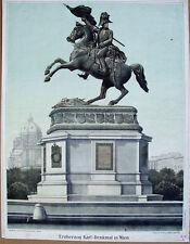 Erzherzog Karl Österreich Ungarn Wien Denkmal Reiter Aspern Napoleon Teschen