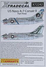 Xtradecal 1/72 X72242 us navy A-7 corsair decal set part 3