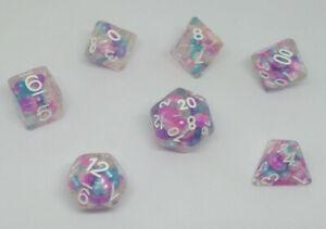 MDG Pearl Gradient Purple/Teal/White Dice Set DnD RPG