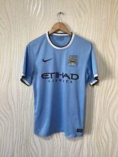 MANCHESTER CITY 2013 2014 HOME FOOTBALL SOCCER SHIRT JERSE NIKE  574863-489